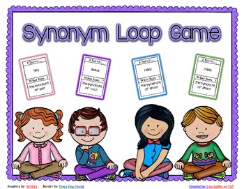Synonyms - I have - Who Has Loop Card Game