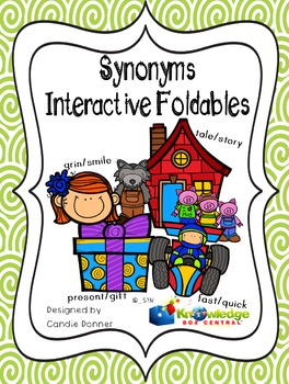 Synonyms Interactive Foldable Booklet