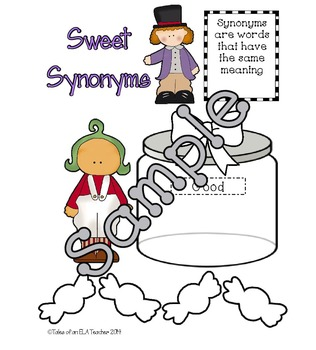Synonyms ~ Interactive Notebook