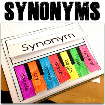 Synonyms Activities - Interactive Notebook