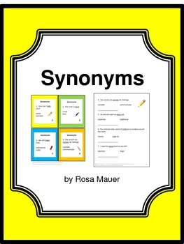 Synonyms Task Cards