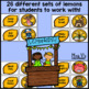 Synonyms: Lemonade Stand Center Activity