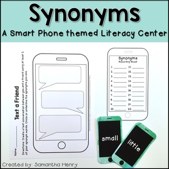 iPhone Synonyms Literacy Center