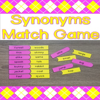 Synonyms Match Game