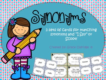 Synonyms {Match-Up Cards}