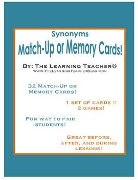 Synonyms Pairing Game!