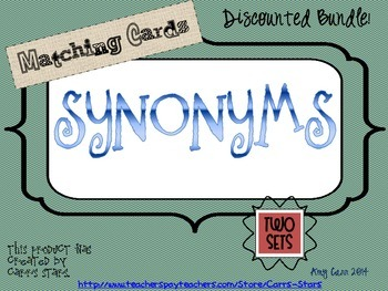 Synonyms Matching Cards Bundled Set ~ Sets 2 and 3