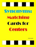Synonyms Matching Cards-Literacy Centers