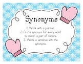 Synonyms Matching Cards (Winter themed)