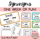 Synonyms Mini-Unit - Elementary ELA Lesson and Activities