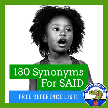Synonyms - Other Words for Said Handout - FREE