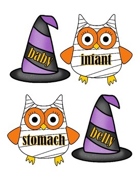 Synonyms - Owls and Hat