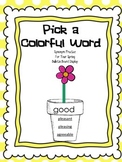 Synonyms ~ Pick a Colorful Word