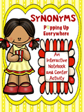 Synonyms interactive notebook practice center activity