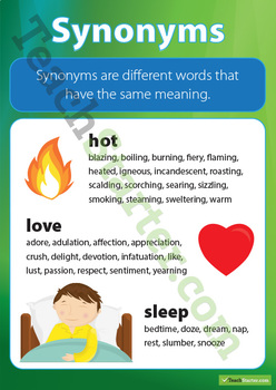 Synonyms Posters Resource Pack