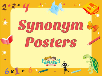 Synonyms Posters - Wow Words and Vocabulary Display