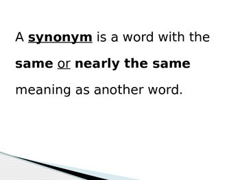 Synonyms   PowerPoint