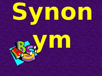 Synonyms Ppt