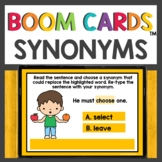 Synonyms Practice Boom Cards™ Distance Learning Activities