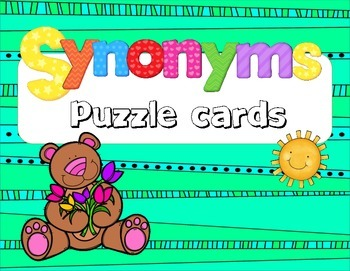 Synonyms - Puzzle Cards