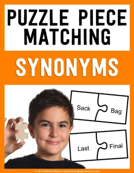 Synonyms - Puzzle Piece Matching Activity