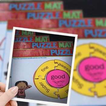 Synonyms - Puzzle Piece Matching Activity Center