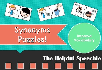 Synonyms Puzzles - Vocabulary Activity