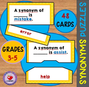 Synonyms Puzzles for Grades 3-5