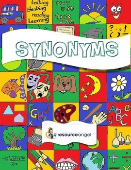 Synonyms printables for teaching Standard English