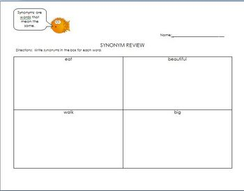 Synonyms Review