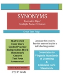 Synonyms Review - Increased Rigor - VA SOL & Common Core