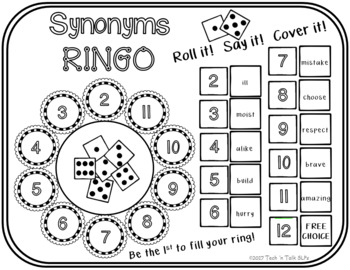 Synonyms Ringo - Roll it! Say it! Cover it!