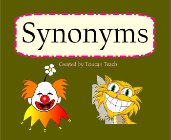 Synonyms SMARTBoard Activities