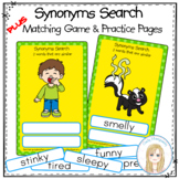 Synonyms Search, Matching Game and Worksheets