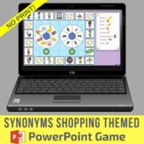 Synonyms Shopping Themed PowerPoint Game - No Print & No Prep