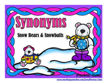 Synonyms - Snow Bears and Snowballs