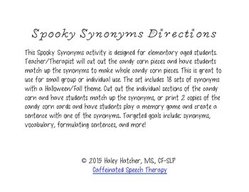 Synonyms: Spooky Edition