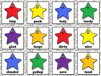Synonyms: Synonyms Matching Game Sort - King Virtue's Classroom