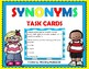 Synonyms-Synonyms Task Cards-Synonyms Gumball Machine Game-Synonyms Game BUNDLE