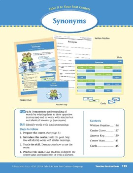 Synonyms (Take It to Your Seat Centers: Common Core Language)