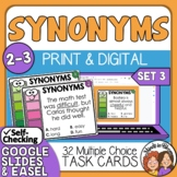 Synonyms Task Cards for Grades 2-3 SET 3