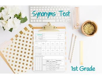 Synonyms Test 1st Grade