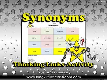 Synonyms Thinking Links Activity #1 Big, Good, Happy, Like - King Virtue