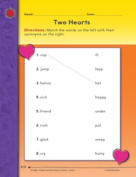 Synonyms--Two Hearts Literacy Center (eLesson)