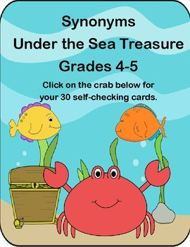 Synonyms-Under the Sea Treasure-Boom Cards-Grades 4-5