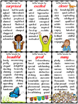 Synonyms, WOW Words, Character Words, Narrative Transition, Signal Words