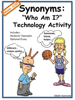 """Synonyms """"Who am I?"""" Technology Activity"""