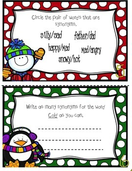 Synonyms Mini book ( Winter)