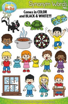 Synonyms Word Clipart Set 1 {Zip-A-Dee-Doo-Dah Designs}
