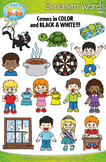 Synonyms Word Clipart Set 1 {Zip-A-Dee-Doo-Dah Designs}